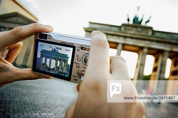 Brandenburger Tor  Berlin  Deutschland