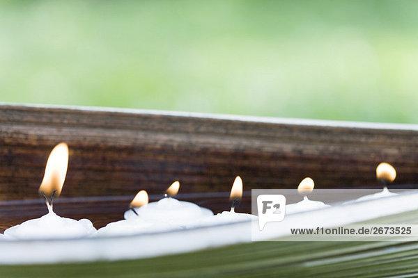 beleuchtet Landschaft Tischset Kerze