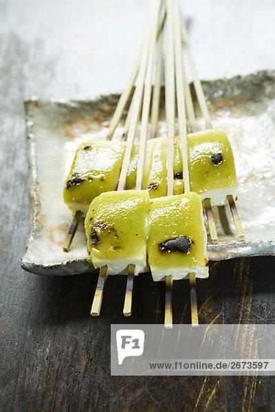 Tofu Misosuppe gegrillt