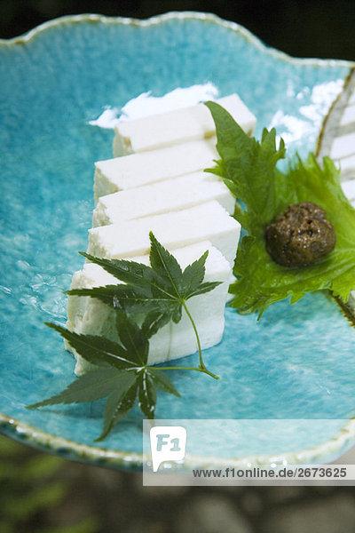 Tofu Seeigel pürieren