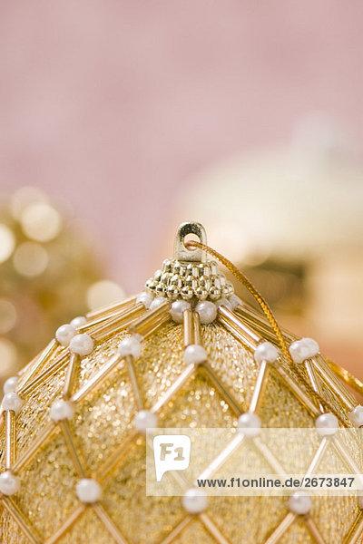 Verzieren gold Christmas Ornament  Nahaufnahme