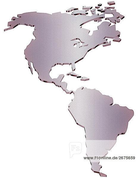 Karte Südamerika Und Nordamerika.23072002 Amerika Gegenstand Karte Nordamerika Lizenzfreies Bild