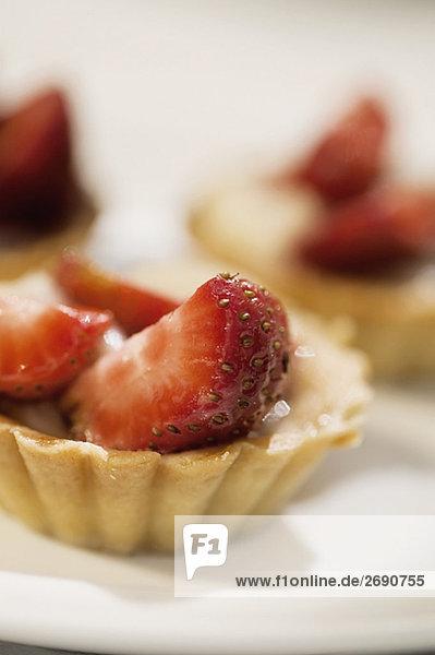 Nahaufnahme erdbeere Torten