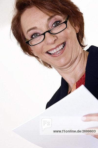 Portrait Geschäftsfrau lächeln