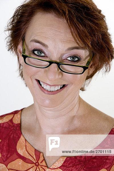 Senior Senioren Portrait Frau lächeln