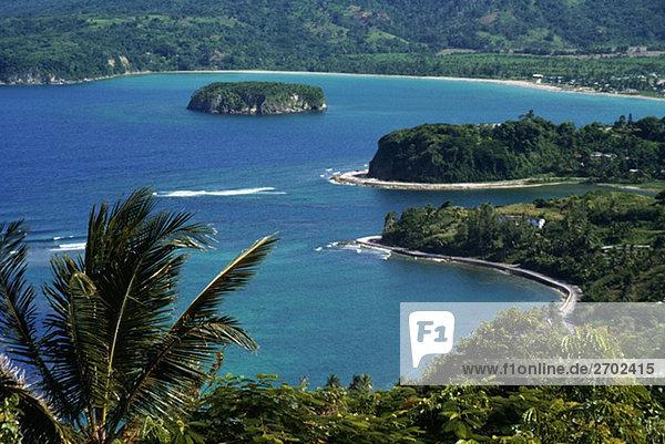 Blick auf die Bucht in Ocho Rios gesehen von Firefly  Jamaika