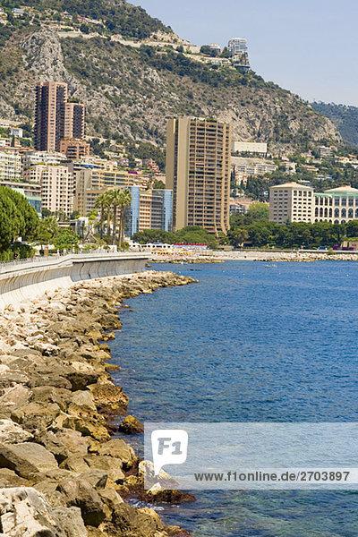 Gebäude an der Waterfront  Monte Carlo  Monaco
