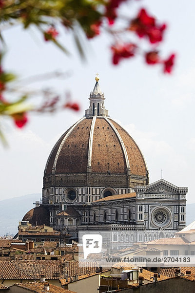 Cathedral in a city  Duomo Santa Maria Del Fiore  Florence  Tuscany  Italy