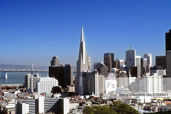 Gebäude in einer Stadt  San Francisco  Kalifornien  USA