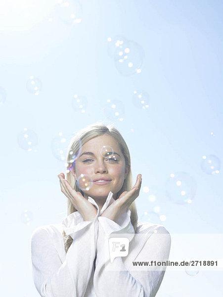 Mädchen mit Blasen