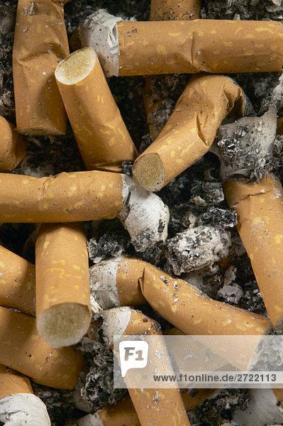 Zigarettenkippen  Nahaufnahme