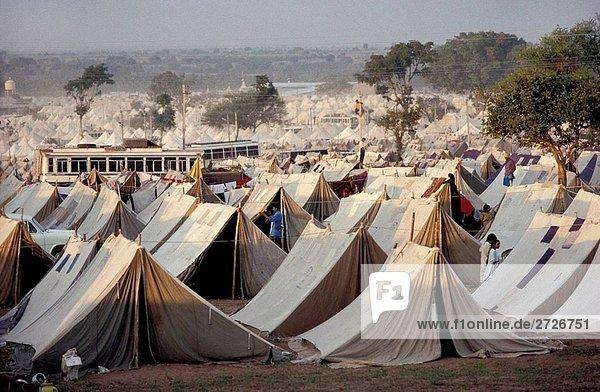 PILGER CAMP  SHRAVANA  KARNATAKA  INDIEN