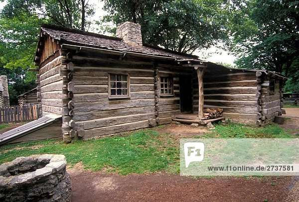 New Salem historic site log cabin Petersburg Illinois