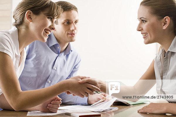 Paar auf meeting