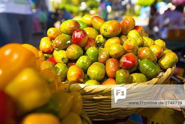 Gemüse zu einem Markt Stall  San Juan Nuevo  Michoacan Bundesstaat México