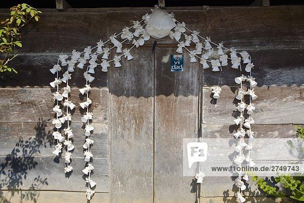 Muschel Tür Dekoration