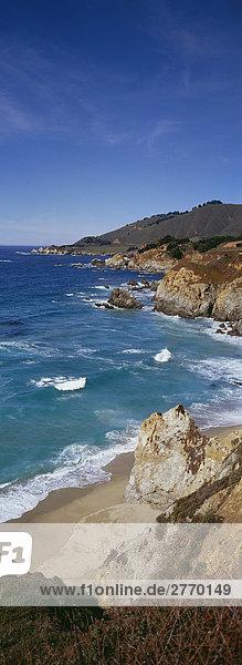 Küstenabschnitt  Big Sur  Kalifornien  USA