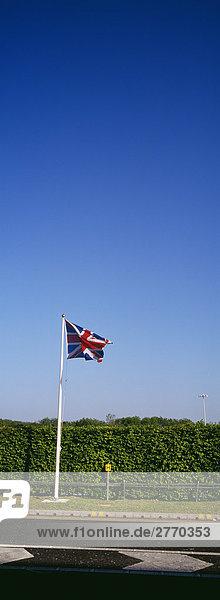 Britische Flagge  Stansted Airport  London  England  Großbritannien