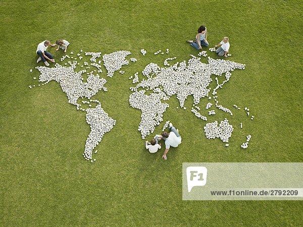 Felsbrocken Menschliche Eltern Produktion Weltkarte