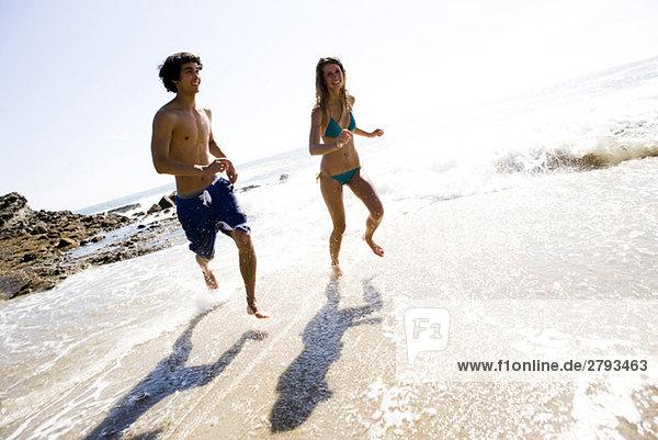 Strand rennen multikulturell