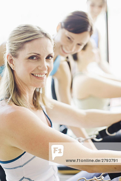 Close up of smiling Woman working out