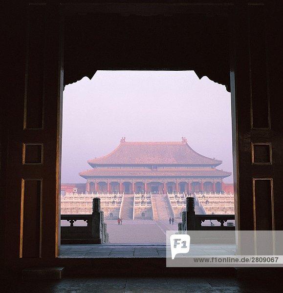 Perspektive der Halle der obersten Harmonie in verbotenen Stadt  Beijing