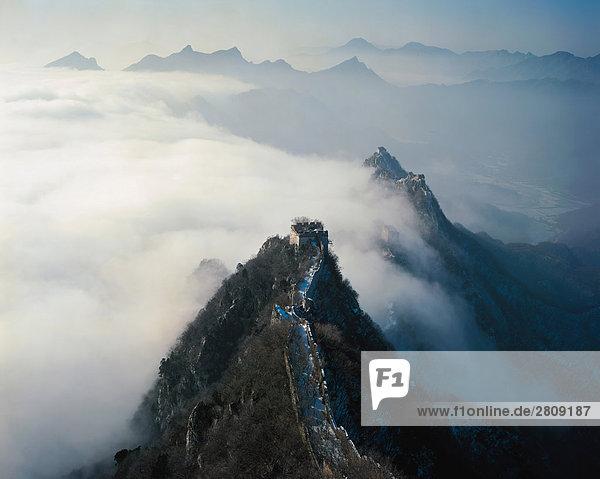 Vogelperspektive Schuss von Jiankou Great Wall  Beijing