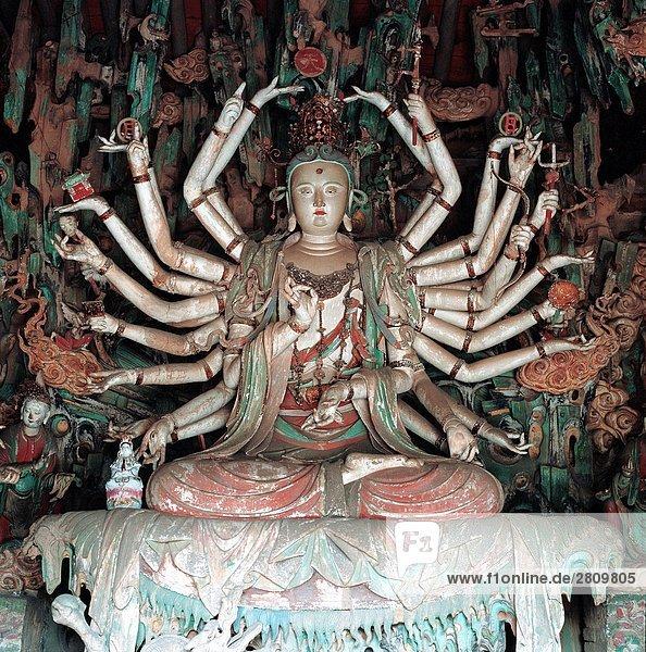 China  Provinz Shanxi  Bodhisattva in der Shuanglin-Tempel