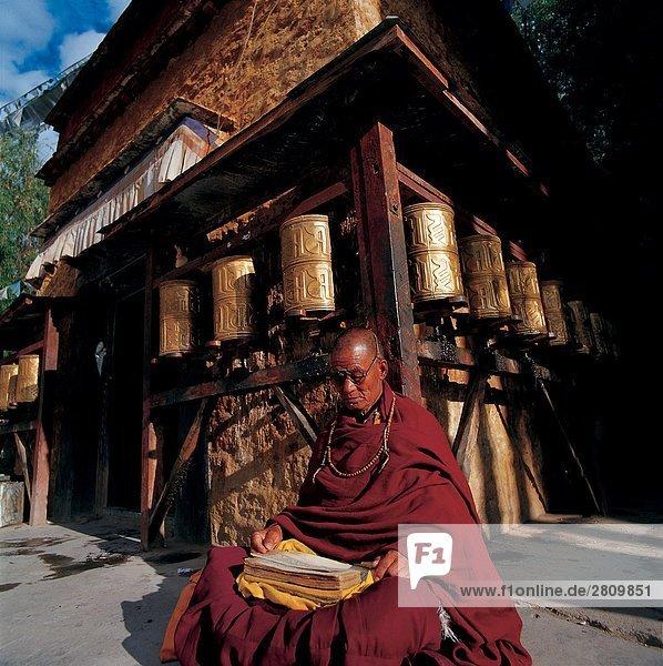 China  tibetischen Buddhismus Lesung Buch