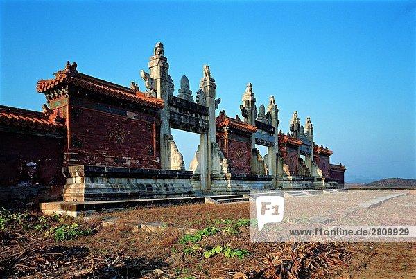 die Toril der kaiserliche Mausoleen der Qing-Dynastie in Hebei Province  China