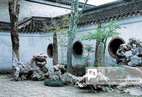 die traditionelle chinesische Garten in Suzhou City  Jiangsu Province