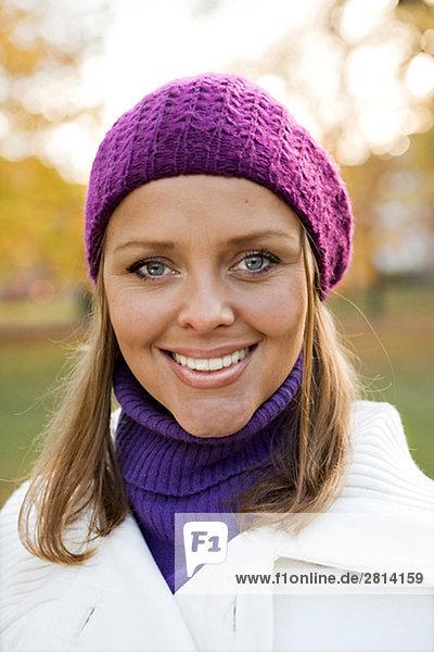 Porträt von einem lächelnden Frau Stockholm Schweden.