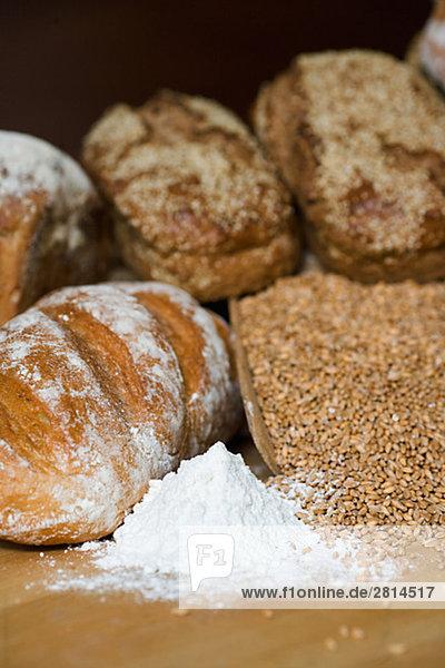 Brot Getreide und Mehl Schweden.