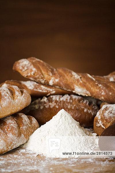 Mehl und Brot Schweden.