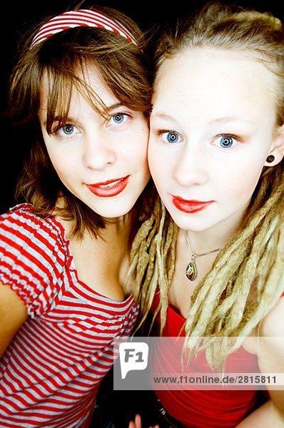 Two teenage girls Sweden.