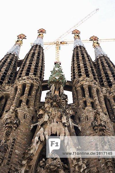 Die Sagrada Famlia in Barcelona Spanien.
