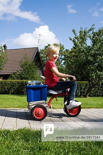 Gegenstand, Recycling, Fahrrad, Rad, Mädchen