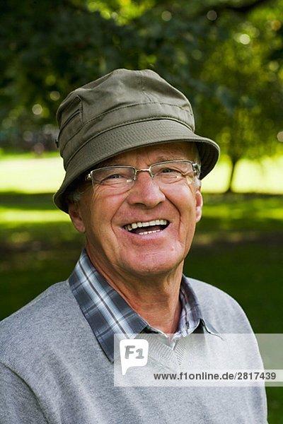 Portrait of a man wearing a hat Sweden.