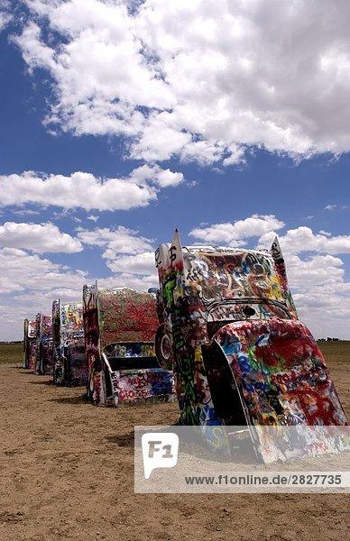 Cadillac Ranch bei Amarillo  Texas  USA