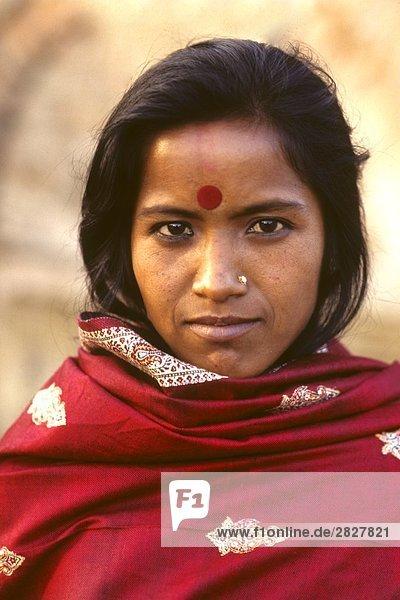 Porträt einer Inderin  Dehli  Indien
