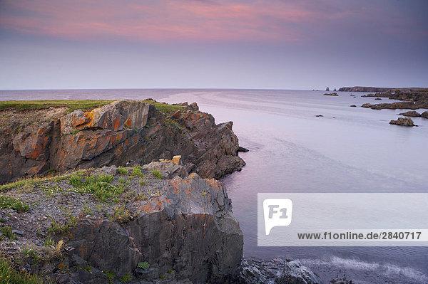 Sonnenuntergang über Küste Ländliches Motiv ländliche Motive Cape Bonavista Kanada Halbinsel
