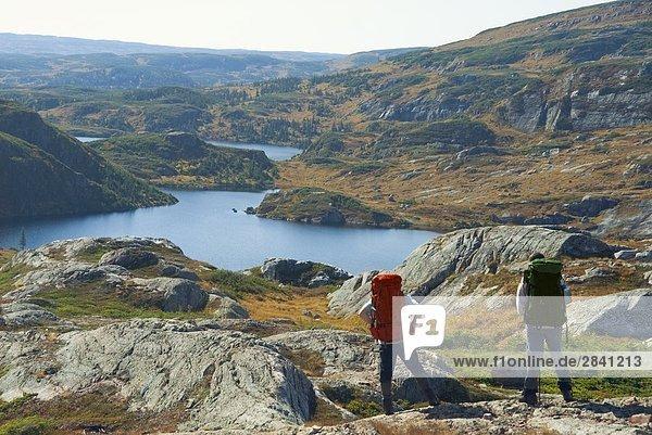 Nationalpark nehmen wandern Ansicht Neufundland Kanada