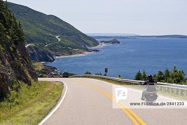 folgen Mütze Ansicht rot Kanada Cape Breton Island Nova Scotia Neuschottland