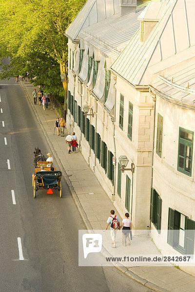 Pferd und Wagen  Rue Saint-Louis  Quebec City  Quebec  Kanada