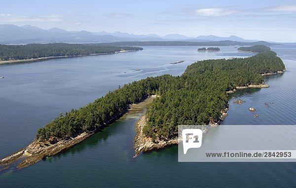 Insel Entdeckung Gulf Islands British Columbia Kanada Speisesalz Salz