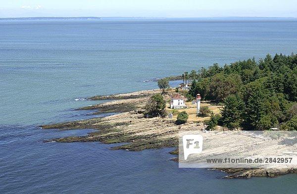 Eingang, Aktion, Leuchtturm, Insel, Fotografie, zeigen, Fernsehantenne, British Columbia, Kanada