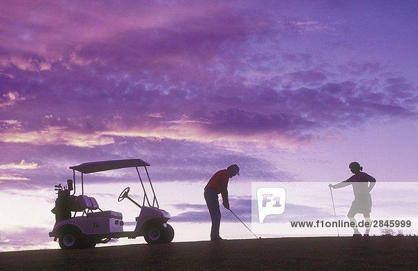 Golfen bei 108 Meile Golf Course  British Columbia  Kanada.