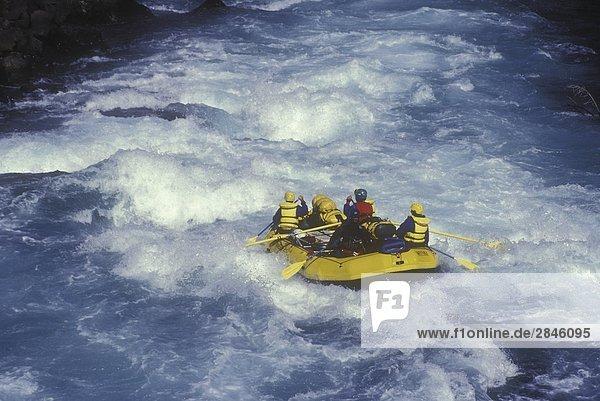 Rafting auf der Chilko River  British Columbia  Kanada.
