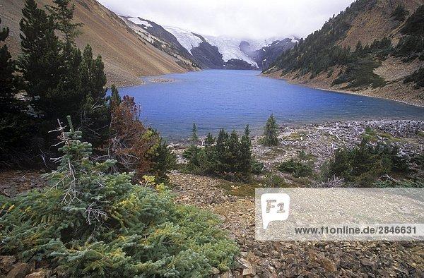 Elton See  am Oberlauf des Stein  ist bekannt für seine spektakulären Turqoise Farbe  British Columbia  Kanada.
