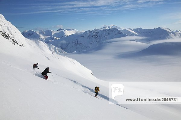 Skifahren der Coast Mountains  British Columbia  Kanada.